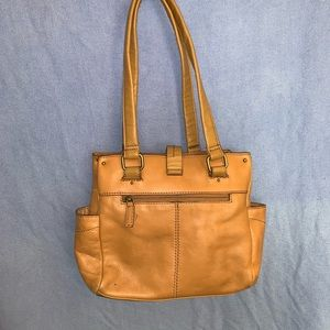 St John's Bay Genuine Leather Tan Purse